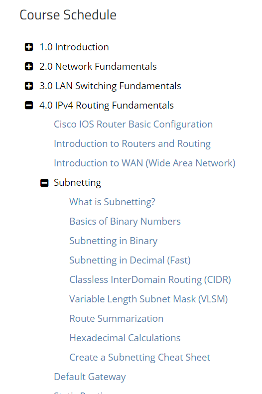 ICND1 IPV4 course - Routing & Switching - NetworkLessons com