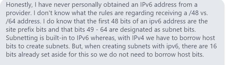 Question on IPv6 Laz